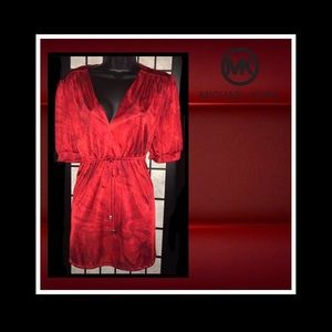 Michael Michael Kors blood red color  blouse. EUC